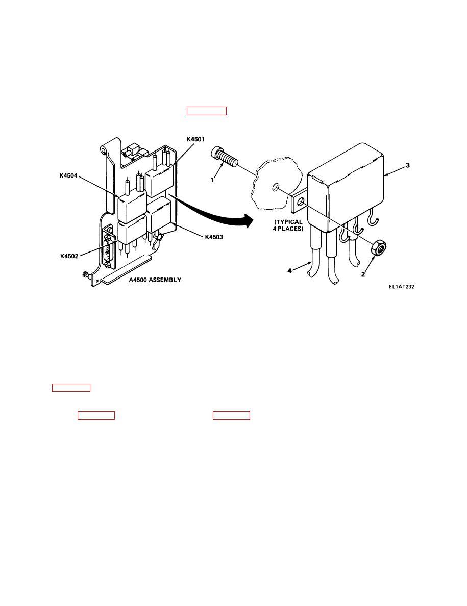 relays k4501 through k4504 replacement
