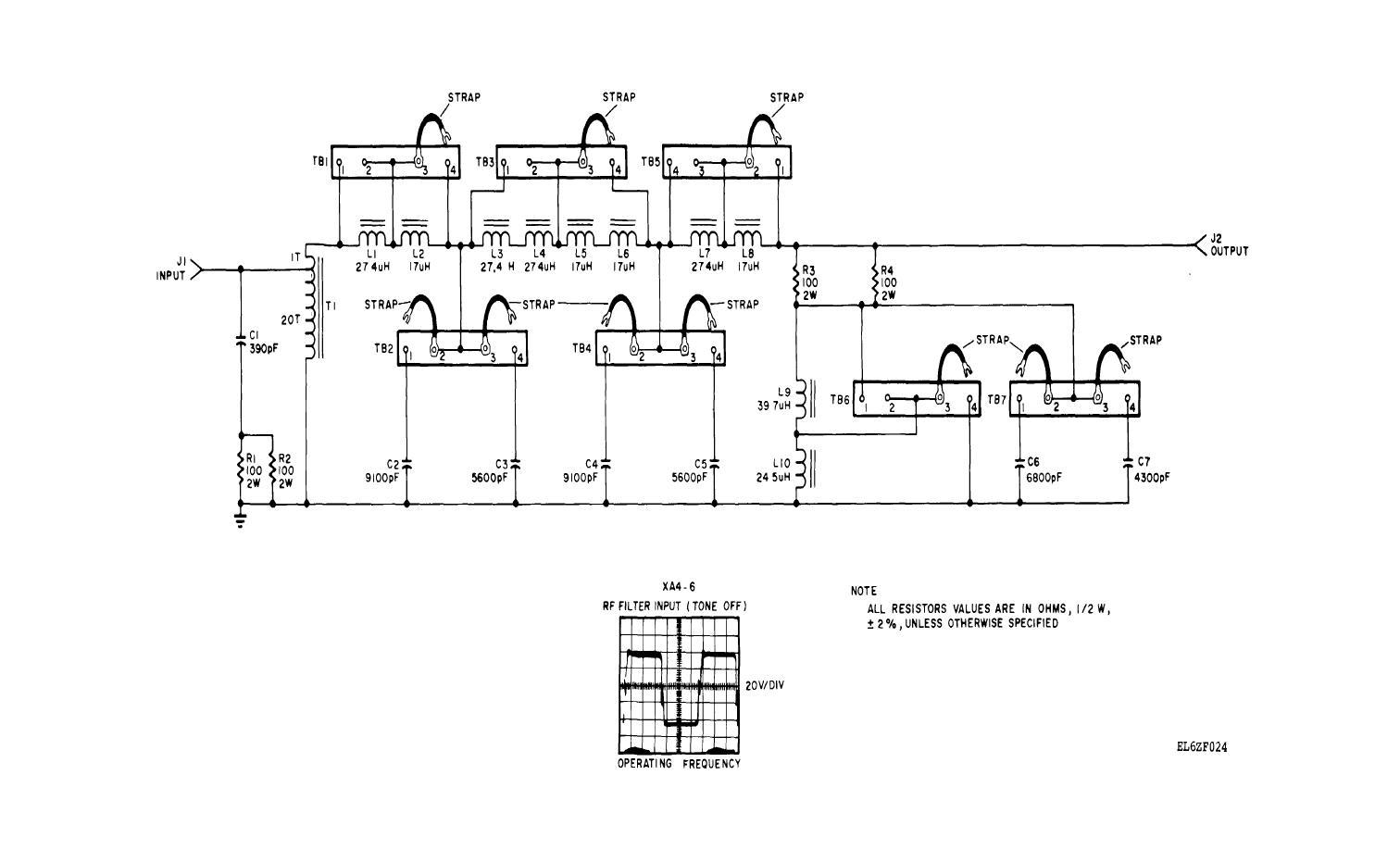 fo 8 rf filter a1a5 schematic diagram